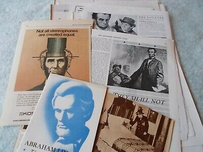 vtg President Abe LINCOLN advertising ADS paper