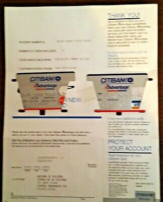 2 Vintage Citibank Credit Cards 1993-1994 One On Welcome Paper Unused