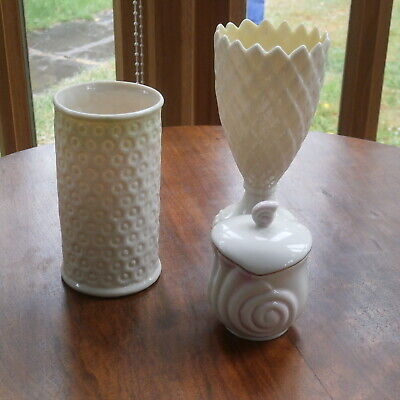 Group Of 3 Vintage Belleek Fine China Pieces