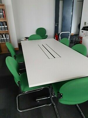 White meeting room table & chairs