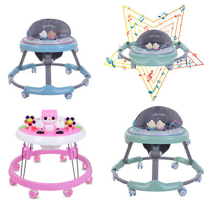 NEW Baby Walker First Steps Push Along Bouncer Activity Music Melody Foldable