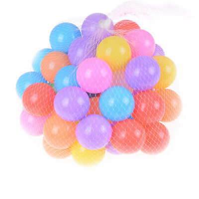 10x Colorful Soft Plastic Ocean Ball 55mm Safty Secure Baby Kid Pit Toy Swim ws