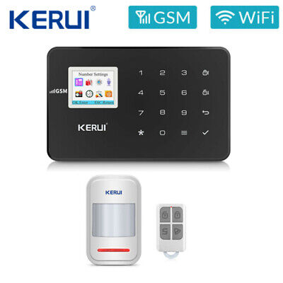 KERUI G18 Black Wireless GSM PSTN Home Alarm Security IOS Android APP System