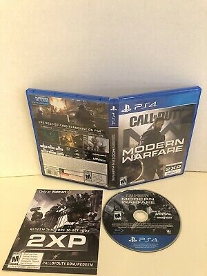 Call of Duty Modern Warfare (PlayStation 4 PS4, 2019)- NICE CONDITION