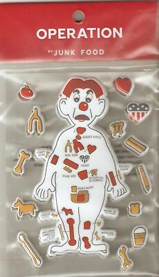 Scrapbooking Puffy Stickers Operation Game Party Favors 3 Sheets by Junk Food
