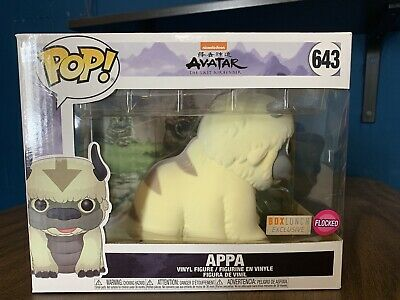 "Funko Pop + Protector! Avatar #643 6"" Appa (Flocked) Boxlunch Exclusive"