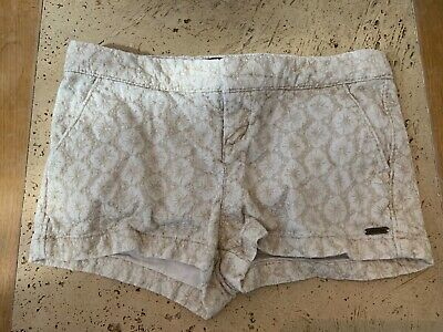 Abercrombie and Fitch Girls Shorts Age 8 Gold embroidered flowers Excellent Cond