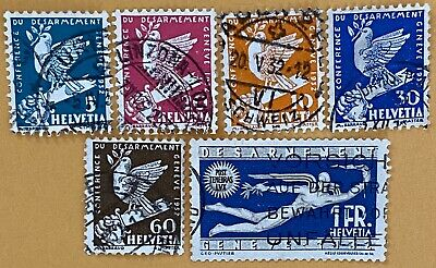 Switzerland Stamps 1932 set of Disarmament Conf used
