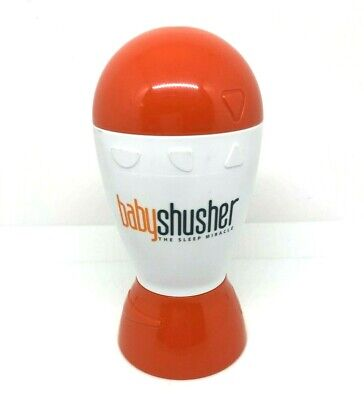 Baby Shusher Sleep Aid Miracle Soother Sound Device Used Working Orange White