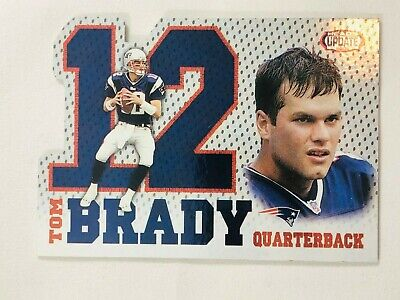 Tom Brady 2002 Pacific Heads Update Die Cut #15 New England Patriots