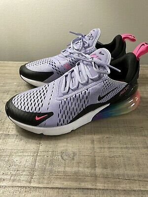 """Nike Air Max 270 Running Shoes """"Be True"""" Light Purple AR0344-500 Men's Size 8.5"""