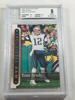 Tom Brady 2007 Upper Deck Mvp Predictors Bgs Graded 8  New England Patriots