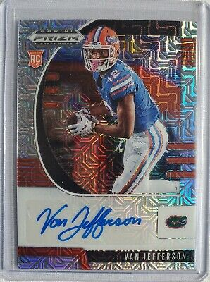 2020 Panini Prizm Draft Picks Van Jefferson Mojo Rookie Auto RC #29/49 Florida