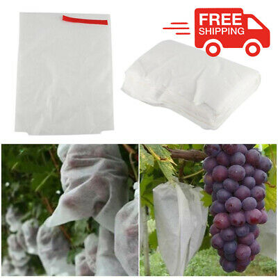100 x Grape Protect Bags Vegetable Fruit Against Insect Bag Bird Mesh Pouch L0U7