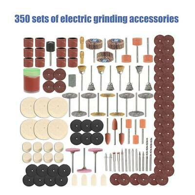 350Pcs Rotary Drill Tool Accessories Bit Set Polishing For Dremel Grinding Kit