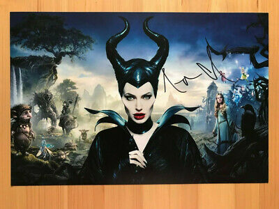 Angelina Jolie Signed Mounted Photo Display Maleficent