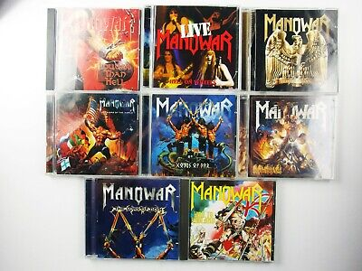Lot of 8 Manowar CDs, Gods of War, Louder Than Hell, Hell on Wheels, Used,Tested