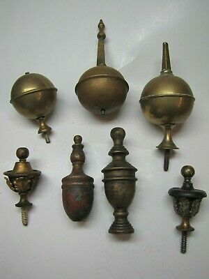 7 x Incomplete Longcase and Bracket Clock Finials (PC)