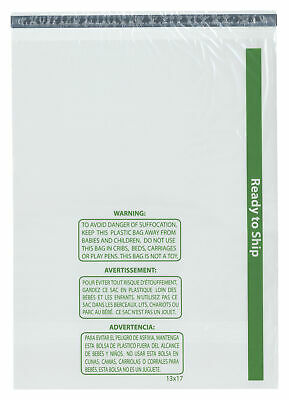 """Plymor Ready to Ship 1.5 Mil Wicketed Plastic Bags, 13"""" x 17"""" (Pack of 500)"""