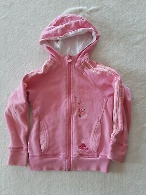 Adidas Girls Jacket Tracksuit Top Disney Tinkerbell Logo Age 3-4 4-5 Years