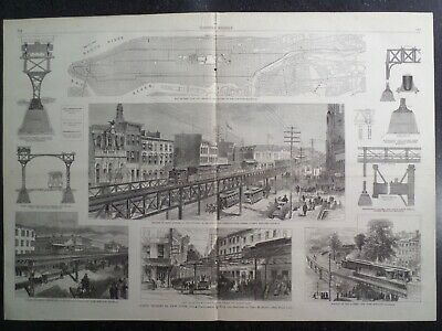 Elevated Railroads of New York City Harper's Weekly 1878
