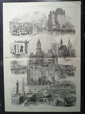 Views City Of Buffalo Hotel River Lighthouse New York Harper's Weekly 1878