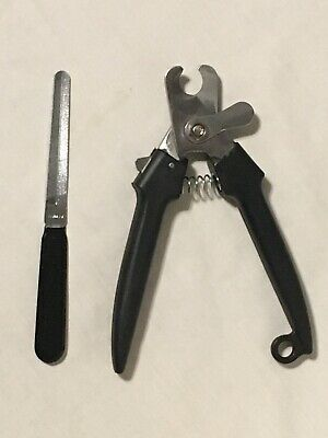 Heavy Duty Stainless Steel Large Dog Nail Clippers & File SafetyLock&Guard Sharp