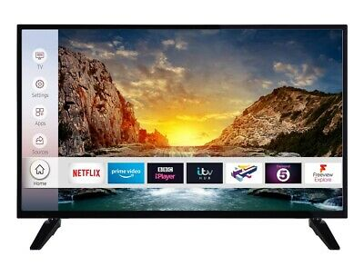 "Digihome 40268UHDS 40"" SMART 4K Ultra HD HDR LED TV Freeview Play Black"