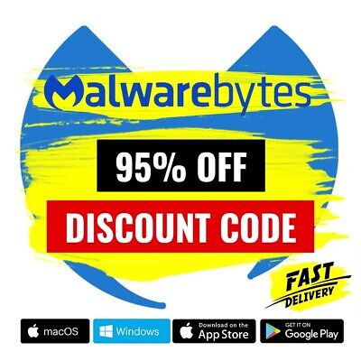 Malwarebytes Premium 2020 Anti-Malware 🔥 95% OFF DISCOUNT CODE ✔️ 4 Years