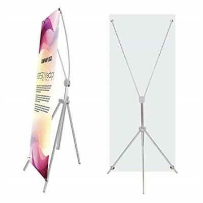 TheDisplayDeal Adjustable Aluminum Banner Stand Fits Any Banner Size from 24X 6