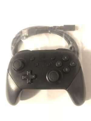 Nintendo Switch Pro Controller Wireless | Black | With USB Cable Refurbished