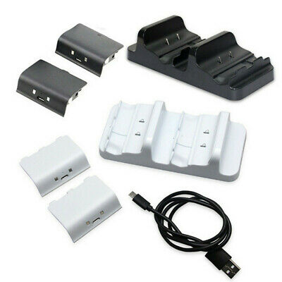 for XBOX ONE Controller Dual Charging Dock Station Charger + 2 Battery Pack zzy