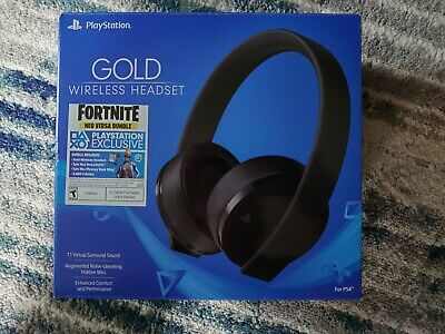 Sony PlayStation Gold Wireless Headset PS4 PS3