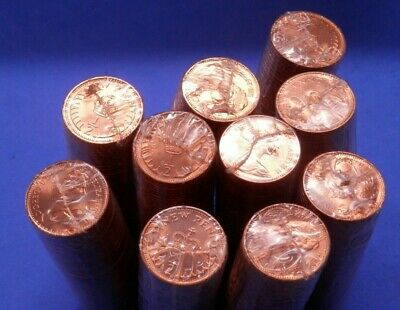 1971 Decimal 1/2p Half New Penny Bulk Lot 10 Sealed Mint Rolls BU (500 Coins)