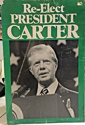 1980 Jimmy Carter Re-election Presidential Campaign Poster - Carter/Mondale