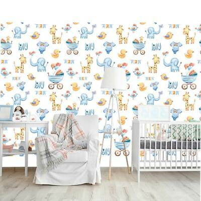 Jungle Forest Animal Wall Mural Self Adhesive Wall Paper Kids Nursery Decor AM47