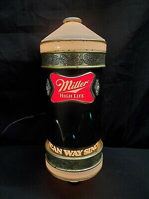 Vintage Miller High Life Beer Motion Bouncing Ball LIght/Sconce Sign From 1984