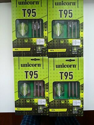 Unicorn T95 Tungsten 95% Darts 21 23 25 27 Grams Set Of 4 Storm points 26mm