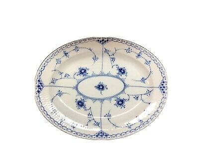Royal Copenhagen Blue Fluted Half Lace  Small Platter  12""