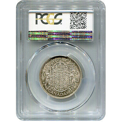 Canada 50 Cents Silver 1937 MS64+ PCGS