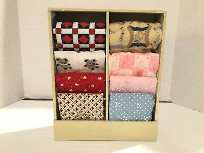 Vintage 8 QUILTS RACK Store Wooden Dollhouse Miniature 1:12 1 Inch Scale Artisan