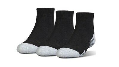 Under Armour Junior HeatGear Tech Lo Cut Socks 3-Pack Size M