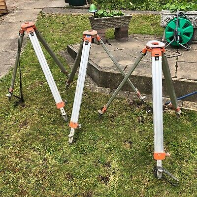 Surveyors Extendable Tripod's X 3 Nikon Aluminium Level Theodolite