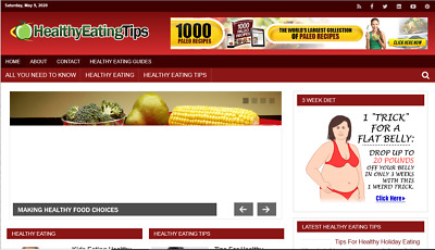 Turnkey Profitable Healthy Eating Website for sale