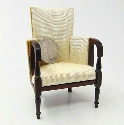 Vintage Miniature Artisan Dollhouse Finely Crafted Round Back Chair 1:12 Scale
