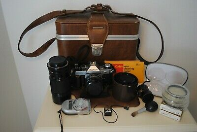 Vintage Canon AE-1 Program 35mm Camera with Amazing Extras and Retro Case!