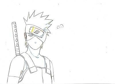 Naruto Japanese Anime Production Genga (Not Cel) Set of 22 - Kakashi