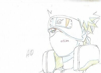 Naruto Japanese Anime Production Genga (Not Cel) Set of 3 - Kakashi