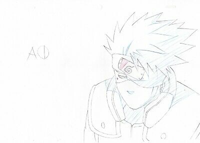 Naruto Japanese Anime Production Genga (Not Cel) Set of 4 - Kakashi