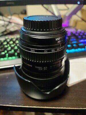 Canon EF 24-105mm F/4 L IS USM Zoom Lens with hood and Hoya HD 77mm UV Filter